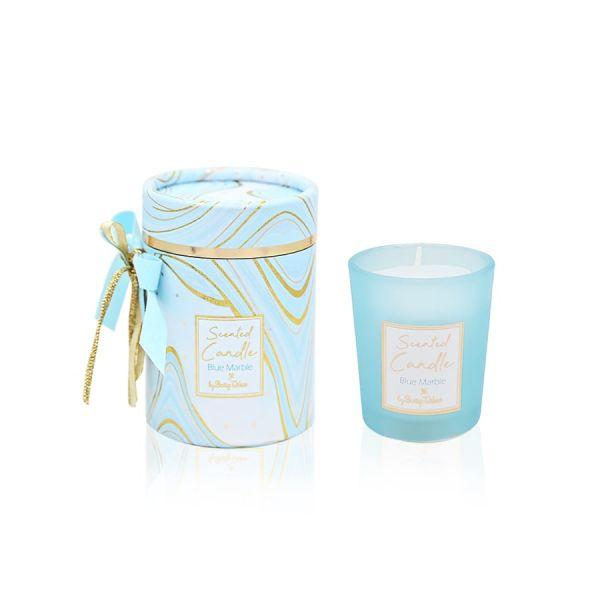 Μπομπονιέρα Αρωματικό κερί marble σιέλ Soap Tales