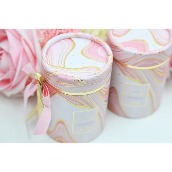 Μπομπονιέρα Αρωματικό κερί marble ροζ Soap Tales