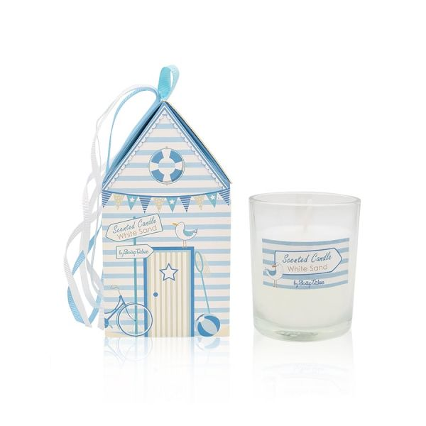 Κερί σπιτάκι με θέμα παραλία σιέλ Soap Tales