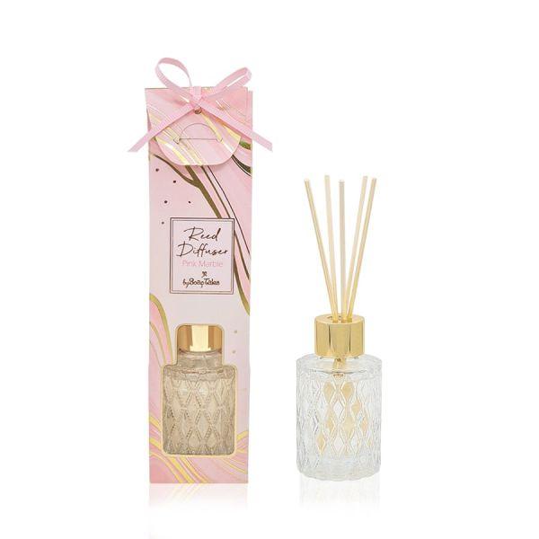 Αρωματικό χώρου marble ροζ 35ml με άρωμα jasmine and hyacinth Soap Tales