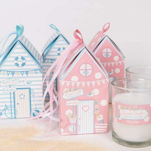 Κερί σπιτάκι με θέμα παραλία ροζ Soap Tales