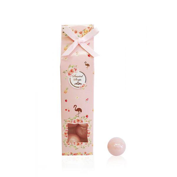 Αρωματικά Σαπουνάκια 6τεμ Σε Κουτί Με Φλαμίνγκο Και Φρούτα Soap Tales