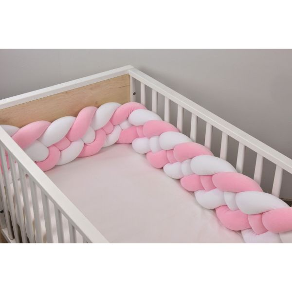 Baby Oliver Πάντα Πλεξούδα Design 3002 White/Pink 18Χ200