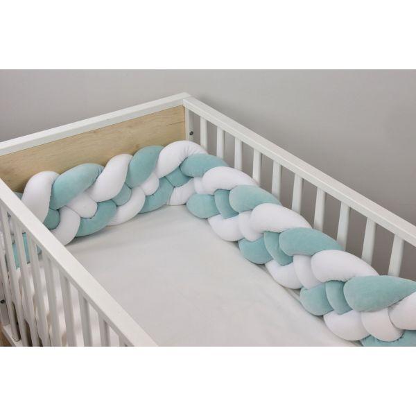 Baby Oliver Πάντα Πλεξούδα Design 3003 White/Mint 18Χ200