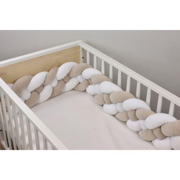 Baby Oliver Πάντα Πλεξούδα Design 3004 White/Mocca 24x200cm