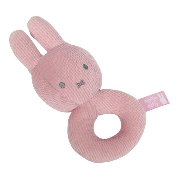 Yφασμάτινη κουδουνιστρα Miffy Pink