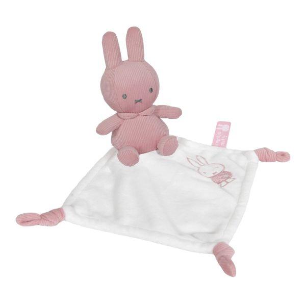 Σετ δωρου : Λουτρινο 20 εκ-πανάκι παρηγοριάς-κουδουνιστρα συσκευασια κουτι Miffy Pink