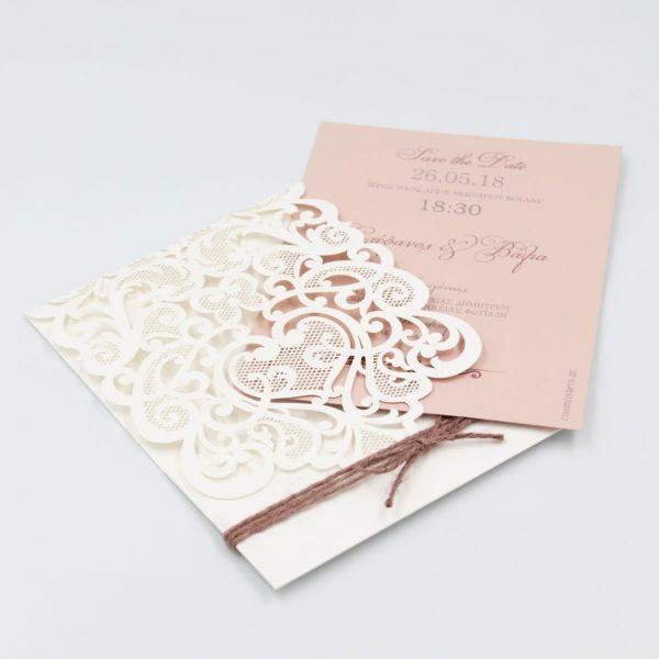 Προσκλητήρια γάμου Laser Cut