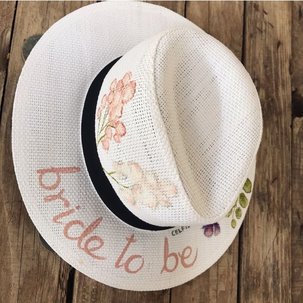 Peony panama hat